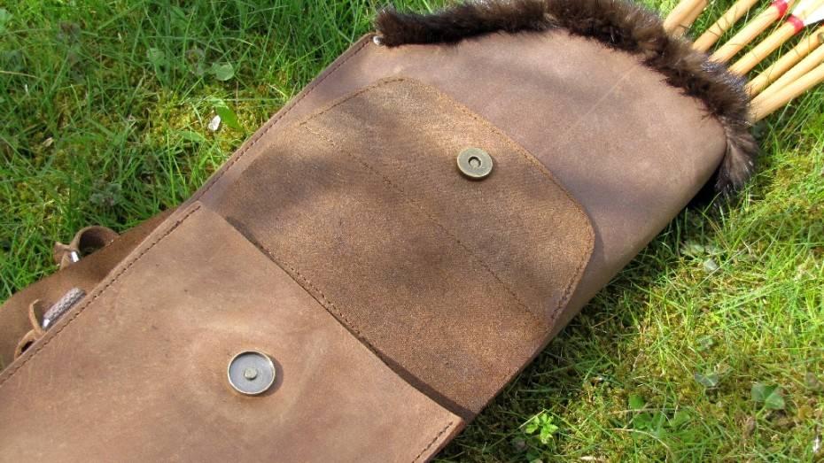 Mind-Factor Rückenköcher mit Tasche in der used-look Variante