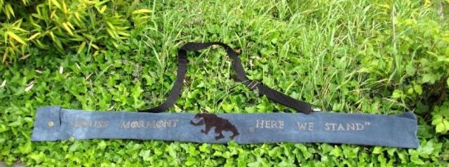 Mind-Factor Bogentasche Bogenhülle aus Leder für Langbogen oder Recurve - eine Hommage an Game of Thrones