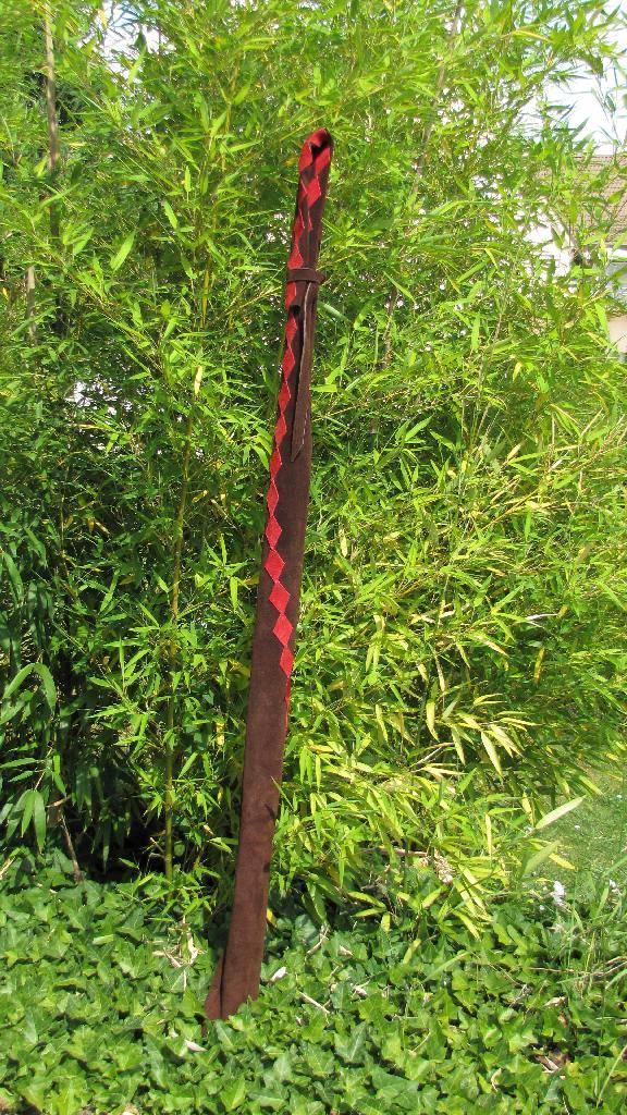 Bogentasche Rauten gewunden 2Mind-Factor Bogentasche Bogenhülle aus Leder für Langbogen oder Recurve