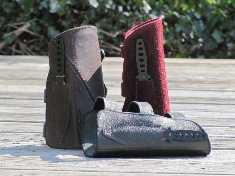 Mind-Factor Armschutz aus Leder mit Messer_2