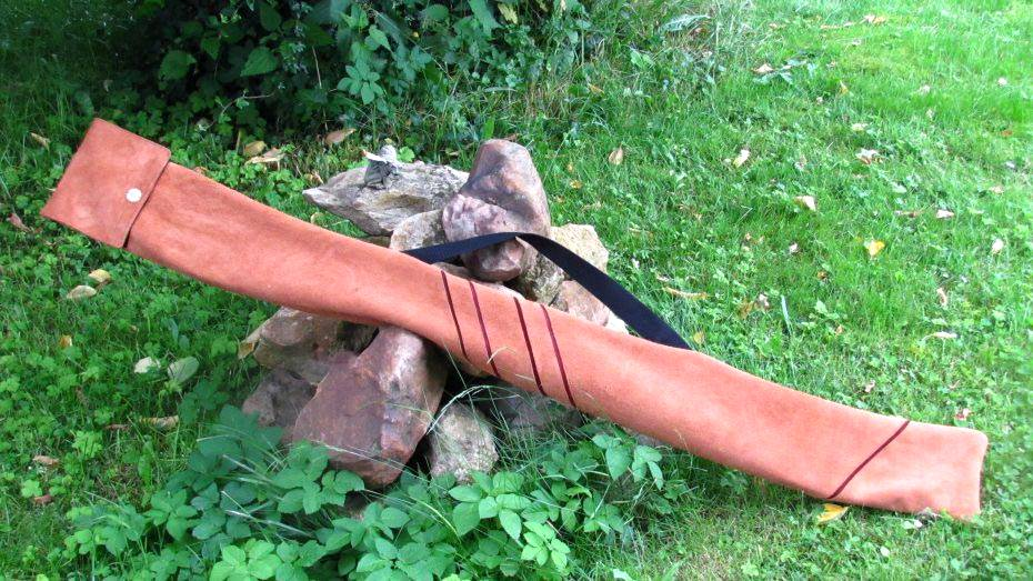 Bogentasche Bogenhülle aus Leder, Mind-Factor Bogensport