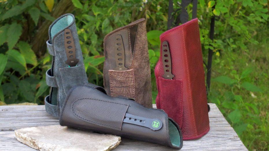Mind-Factor Armschutz aus Leder mit Messer_1