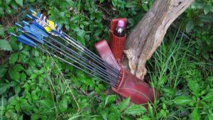 Mind-Factor Bogensport Holsterköcher rot mit passendem Flaschenhalter