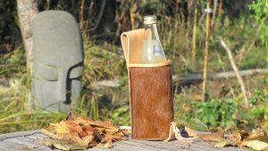 Mind-Factor Bogensport - Flaschenhalter Natur mit Fell_4