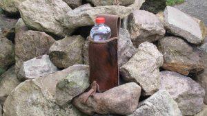Mind-Factor Bogensport - Seitenköcher Flaschenhalter mit Fell sandbraun_1
